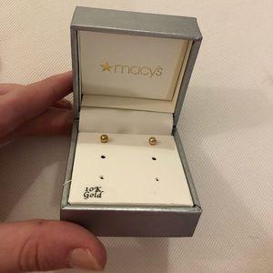 Macy's 10K gold earrings